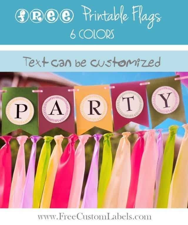Printable Party Flags