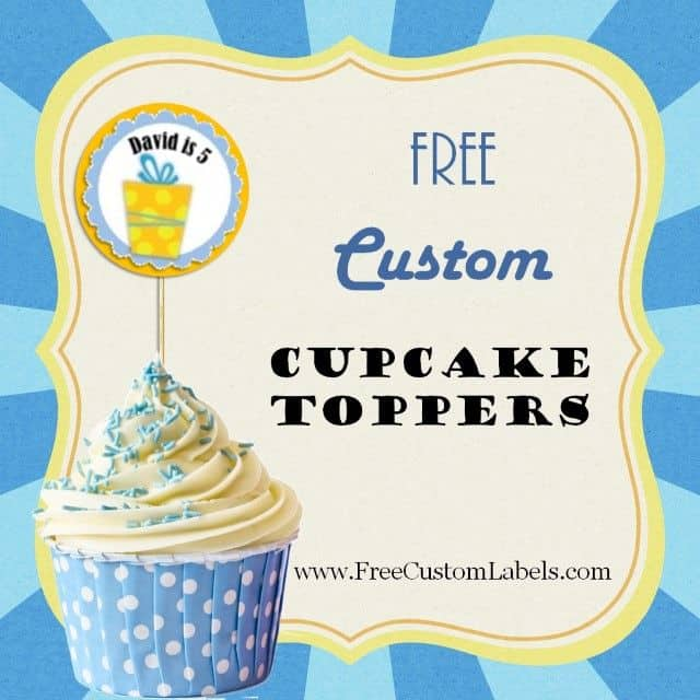 picture about Happy Birthday Cake Topper Printable identify No cost Delighted Birthday Cupcake Toppers