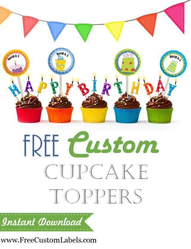 cupcaked for a birthday party with candles and cupcake toppers