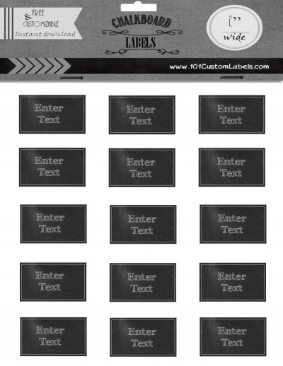 sheet of custom labels