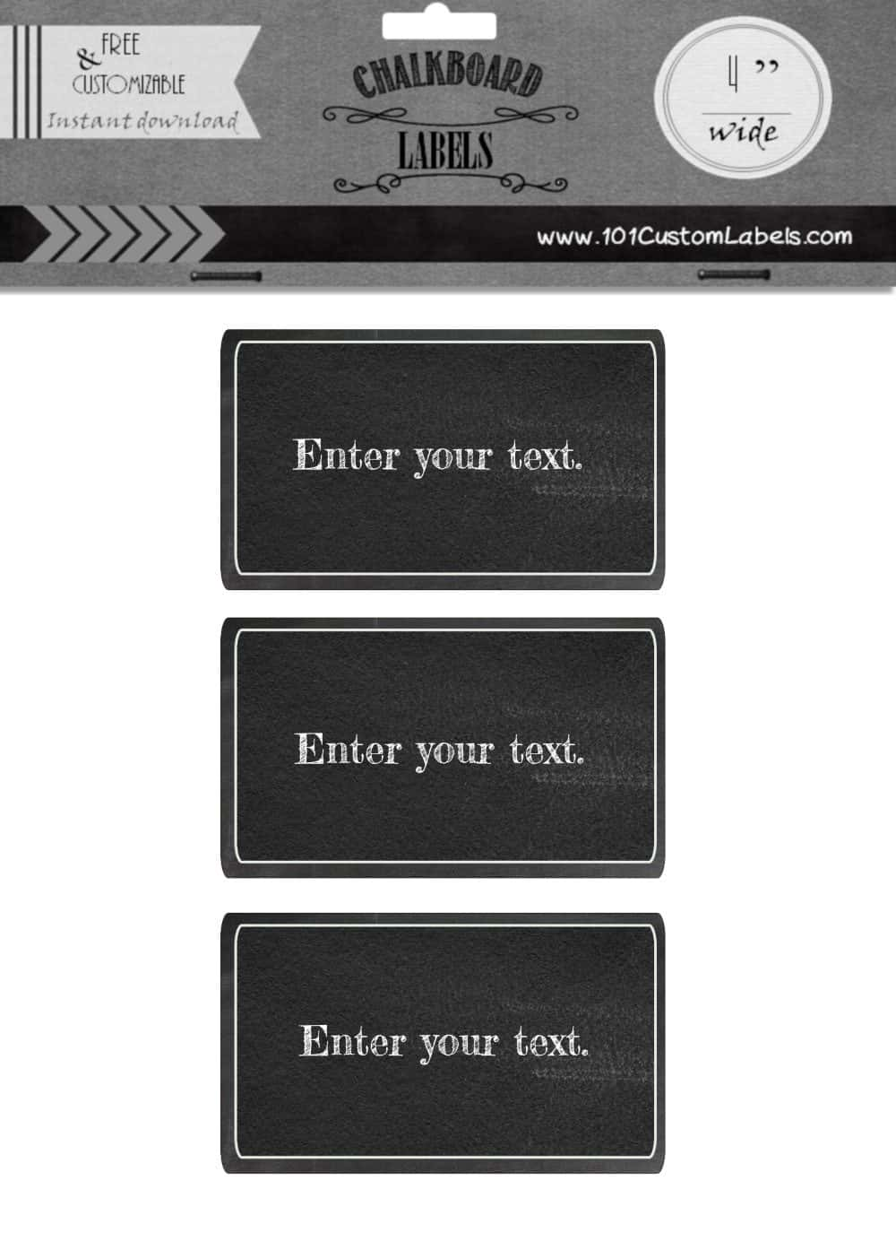 picture about Printable Chalkboard Labels named Absolutely free Custom made Rectangle Chalkboard Labels