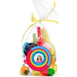 Custom labels with a photo of the birthday girl / boy to turn a simple bag of candy into a custom party favor. Print on sticker paper or regular printer paper and adhere with Mod Podge. So simple to make this unique party favor!