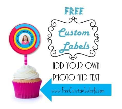 cupcake topper with photo