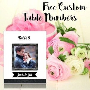 free wedding table number template