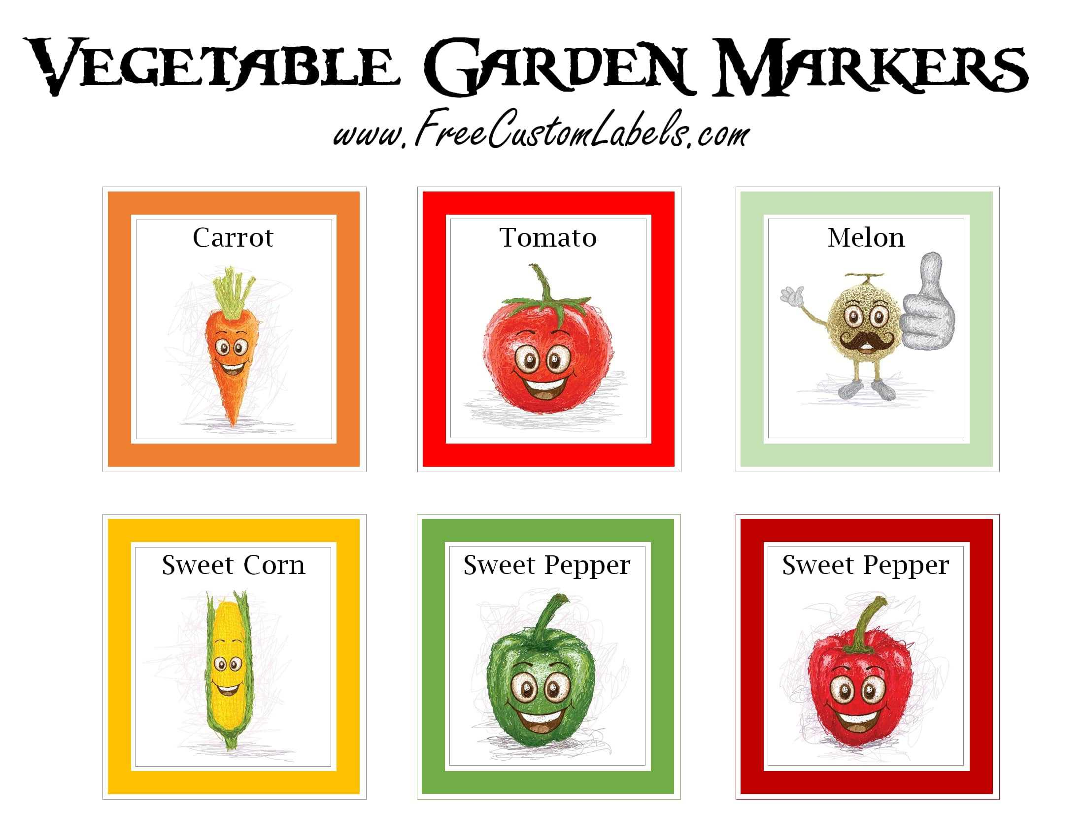 Printable Vegetable Garden Markers | Free Instant Download