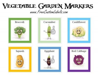 mark your vegetables to remember what will grow