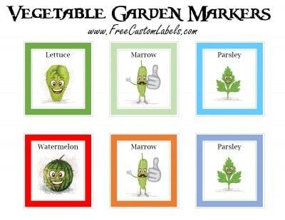 Printable Vegetable Garden Markers Free Instant Download