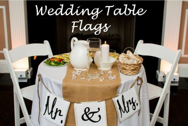 wedding table flags