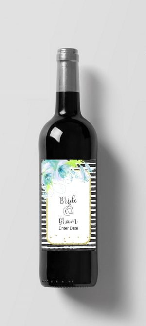 Custom bottle of wine