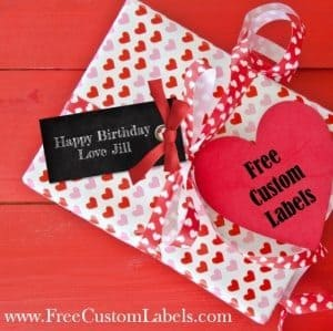 gift tag that can be customized
