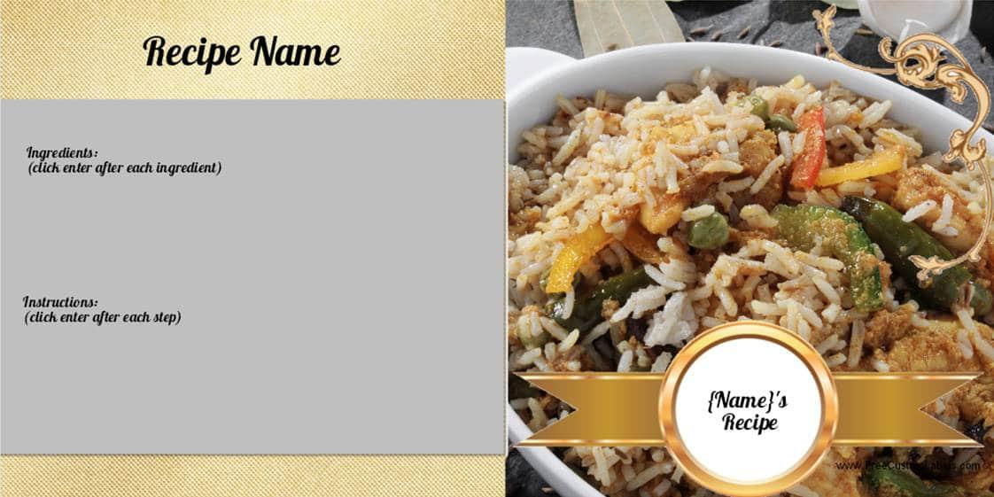 recipe card maker online