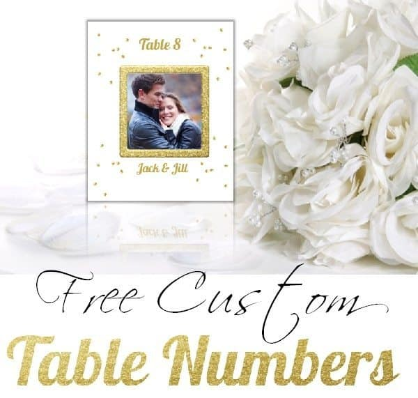 Free Table Number Templates | Customize Online & Print at Home