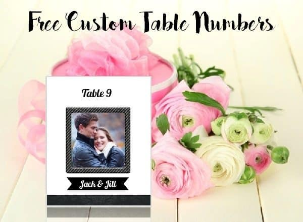 Free printable table numbers for a wedding or any other event