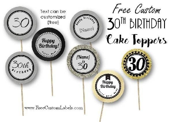 30th Birthday Cake Toppers