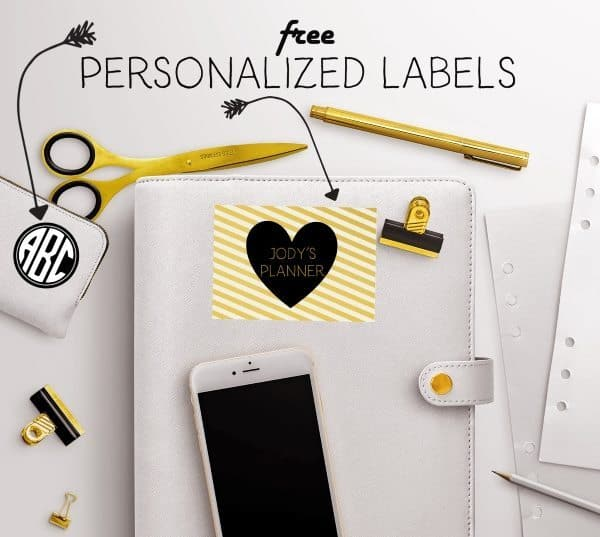 Free personalized labels