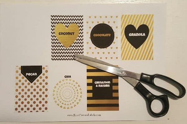 black and gold labels