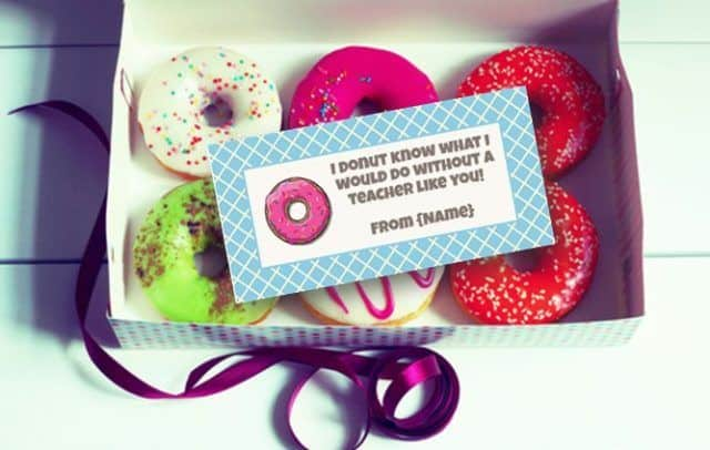donut labels gift tags and bag toppers