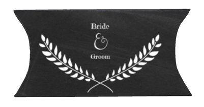 Chalkboard box wedding favor