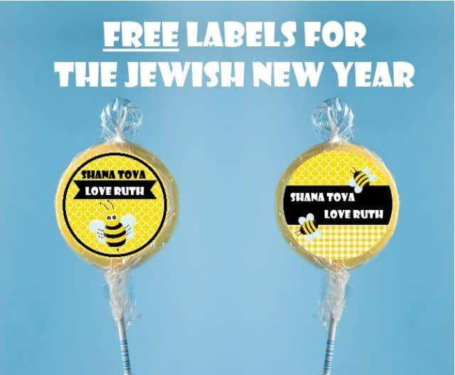 Shana Tova label