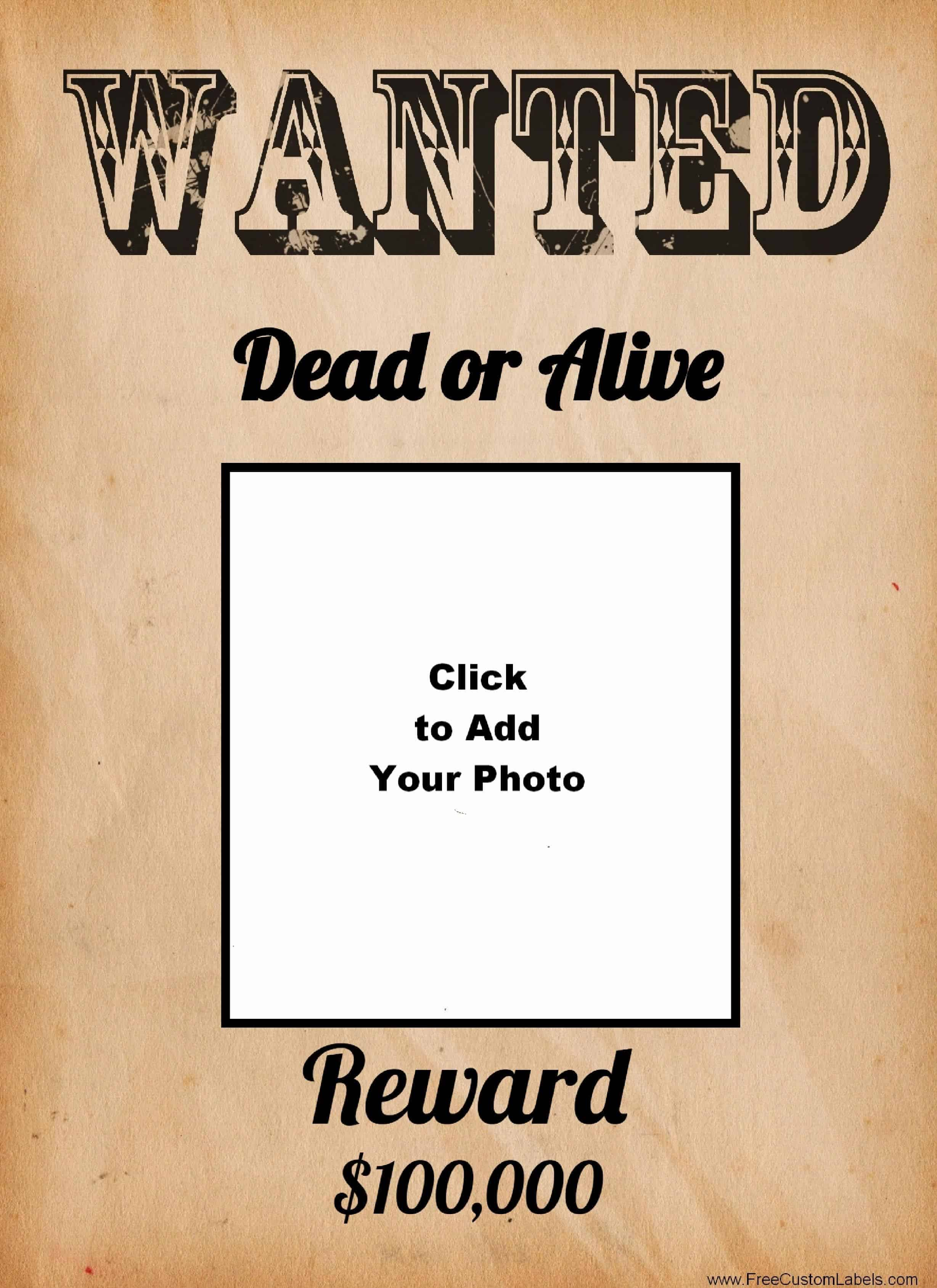 wanted poster template. Black Bedroom Furniture Sets. Home Design Ideas