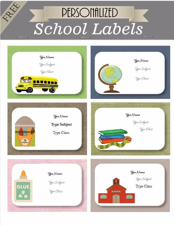 school labels