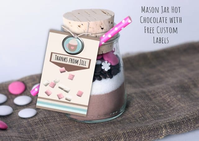 hot chocolate mason jar