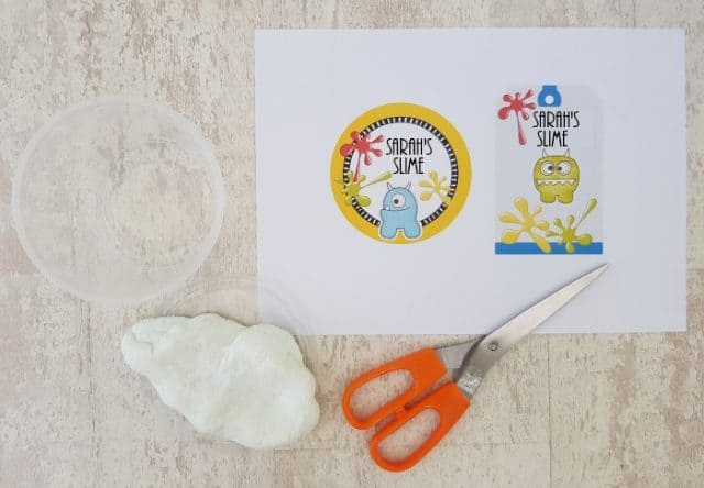 slime labels and stickers