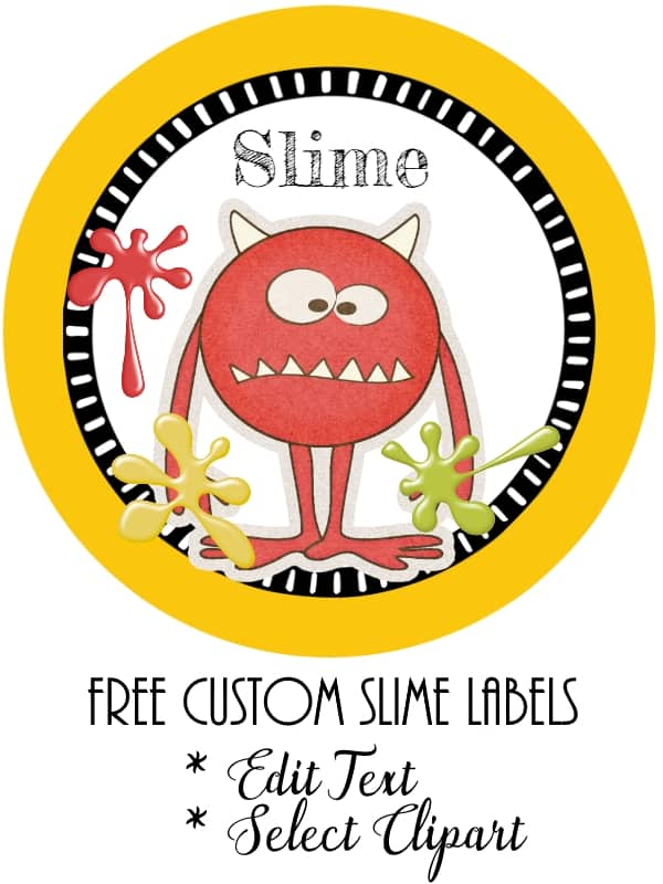 It's just an image of Simplicity Printable Slime Labels